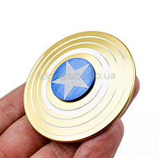 Spinner Капитан Америка золотой качество ТОП 9702, фото 3