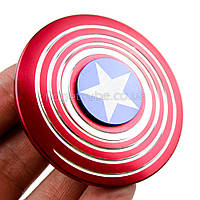 Spinner Капитан Америка красный качество ТОП 9701