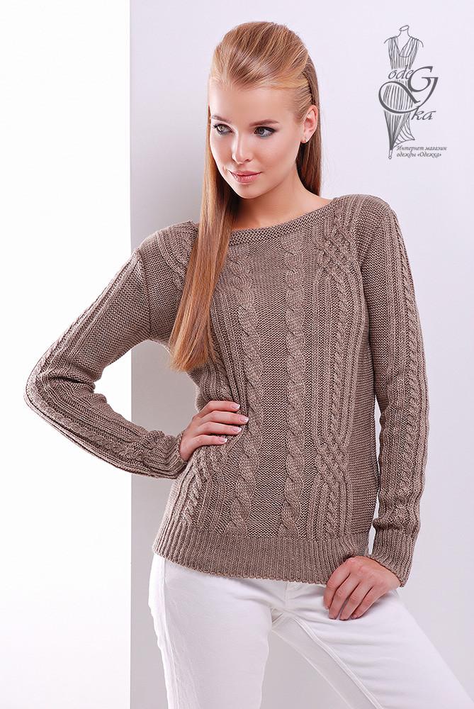 Женский свитер из шерсти и акрила Адель-4