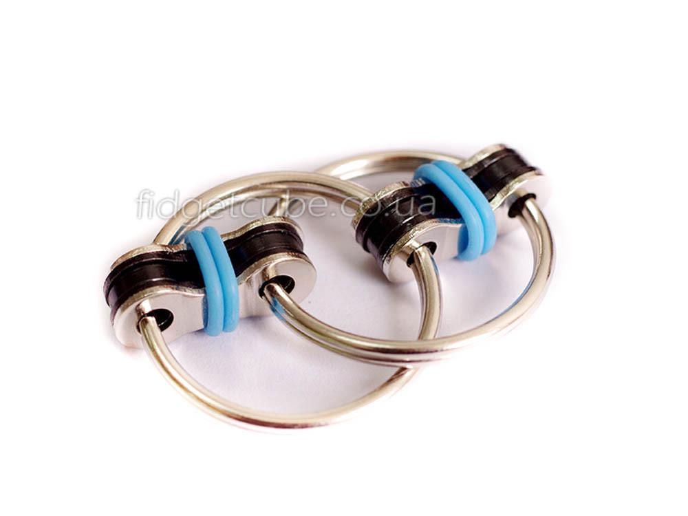 Антистресс 2 кольца для пальцев цвет-голубой 908-6