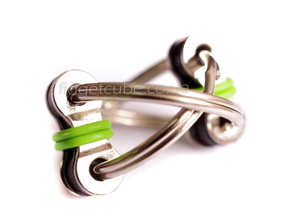 Антистресс 2 кольца для пальцев цвет-зеленый 908-10