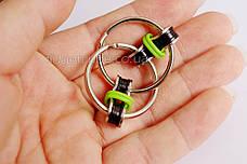 Антистресс 2 кольца для пальцев цвет-зеленый 908-10, фото 3