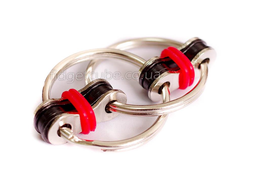 Антистрес 2 кільця для пальців колір-червоний 908-7