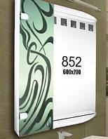 Зеркало с шкафчиком для ванной комнаты 600х700 мм ШК852