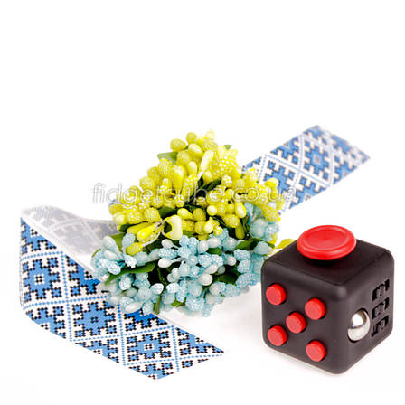 FidgetCube - 6 сторон черно-красный  - 9101-11, фото 2