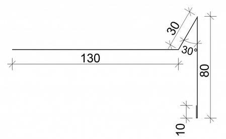 Торцевая  (фронтонная, ветровая планка), фото 2