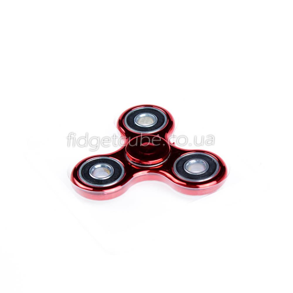Spinner пластиковый красный глянцевый качество Норма 9202-7