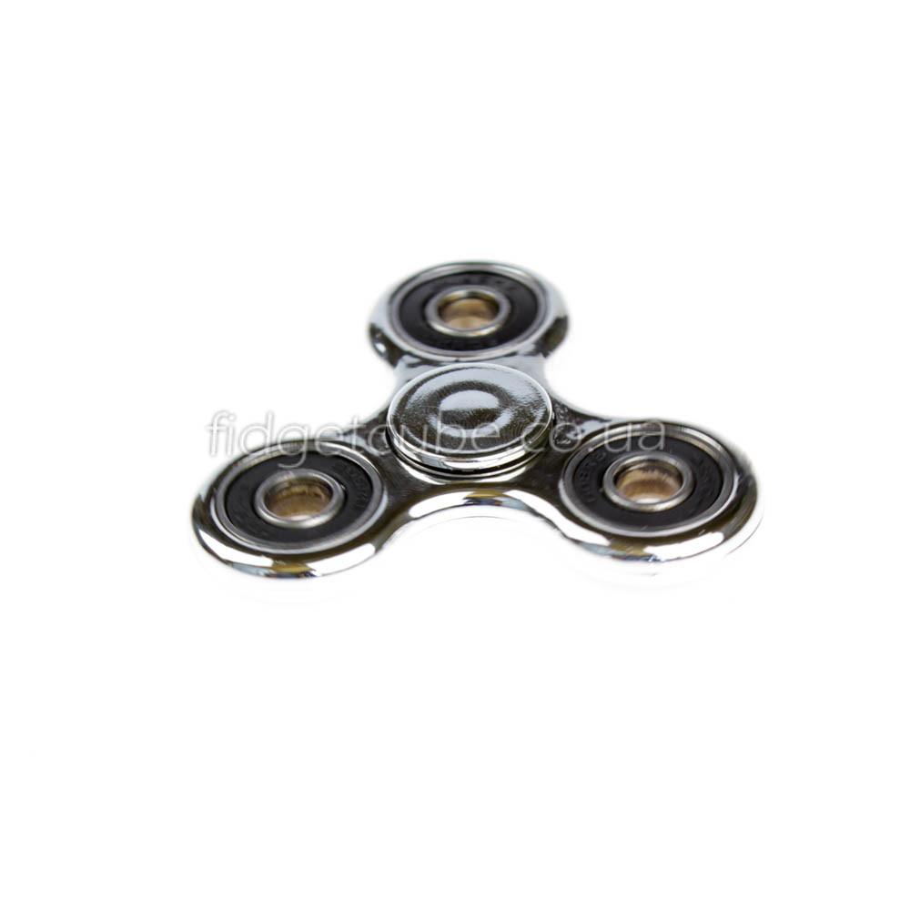 Spinner пластиковый серебро глянцевый качество Норма 9202-5