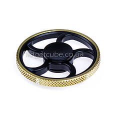 Spinner металл-пластик черно-золотой форма колесо перфорация качество ТОП 9403, фото 2