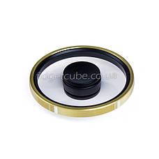 Spinner металл-пластик черно-золотой форма колесо перфорация качество ТОП 9403, фото 3