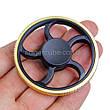 Spinner металл-пластик черно-золотой форма колесо перфорация качество ТОП 9403, фото 4