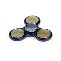 Spinner металл-пластик черно-золотой клевер качество ТОП 9401