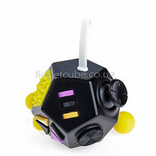 FidgetCube 2.0 - 12 сторон черно-желтый - качество ТОП - 902-7, фото 2
