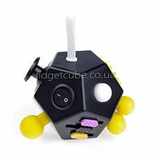 FidgetCube 2.0 - 12 сторон черно-желтый - качество ТОП - 902-7, фото 3
