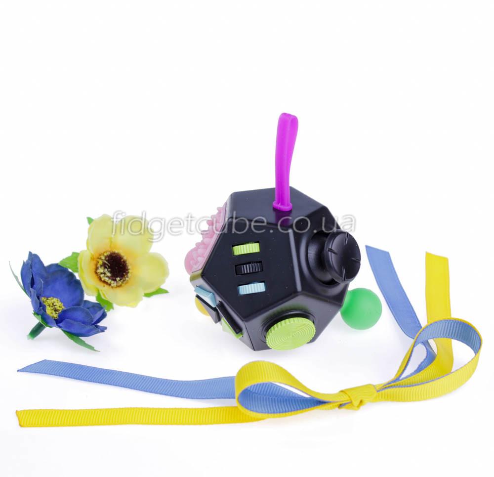FidgetCube 2.0 - 12 сторон черно-фиолетовый - качество ТОП - 902-1