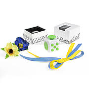FidgetCube - 6 сторон бело-зелен- 901-7