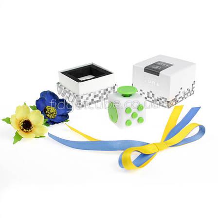 FidgetCube - 6 сторон бело-зелен- 901-7, фото 2
