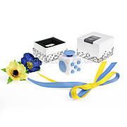 FidgetCube - 6 сторон бело-синий - 901-8
