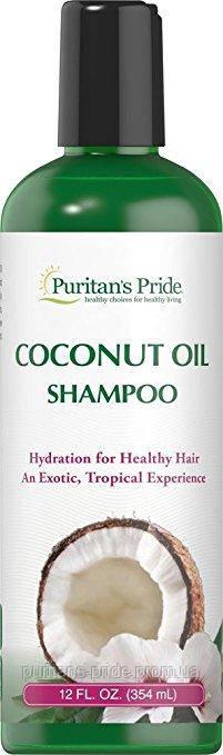 Puritan's Pride Coconut Oil Shampoo 12 oz Bottle