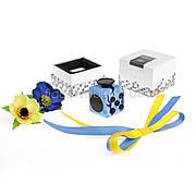 FidgetCube - 6 сторон синий камуфляж - качество ТОП - 901-12