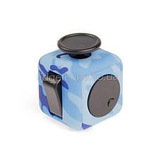 FidgetCube - 6 сторон синий камуфляж - качество ТОП - 901-12, фото 3