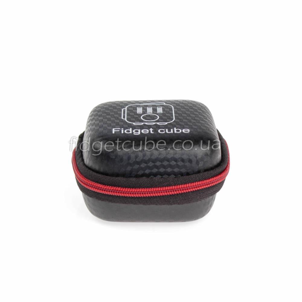 FidgetCube - чехол черн-красный на застежке ТОП качество 901-20