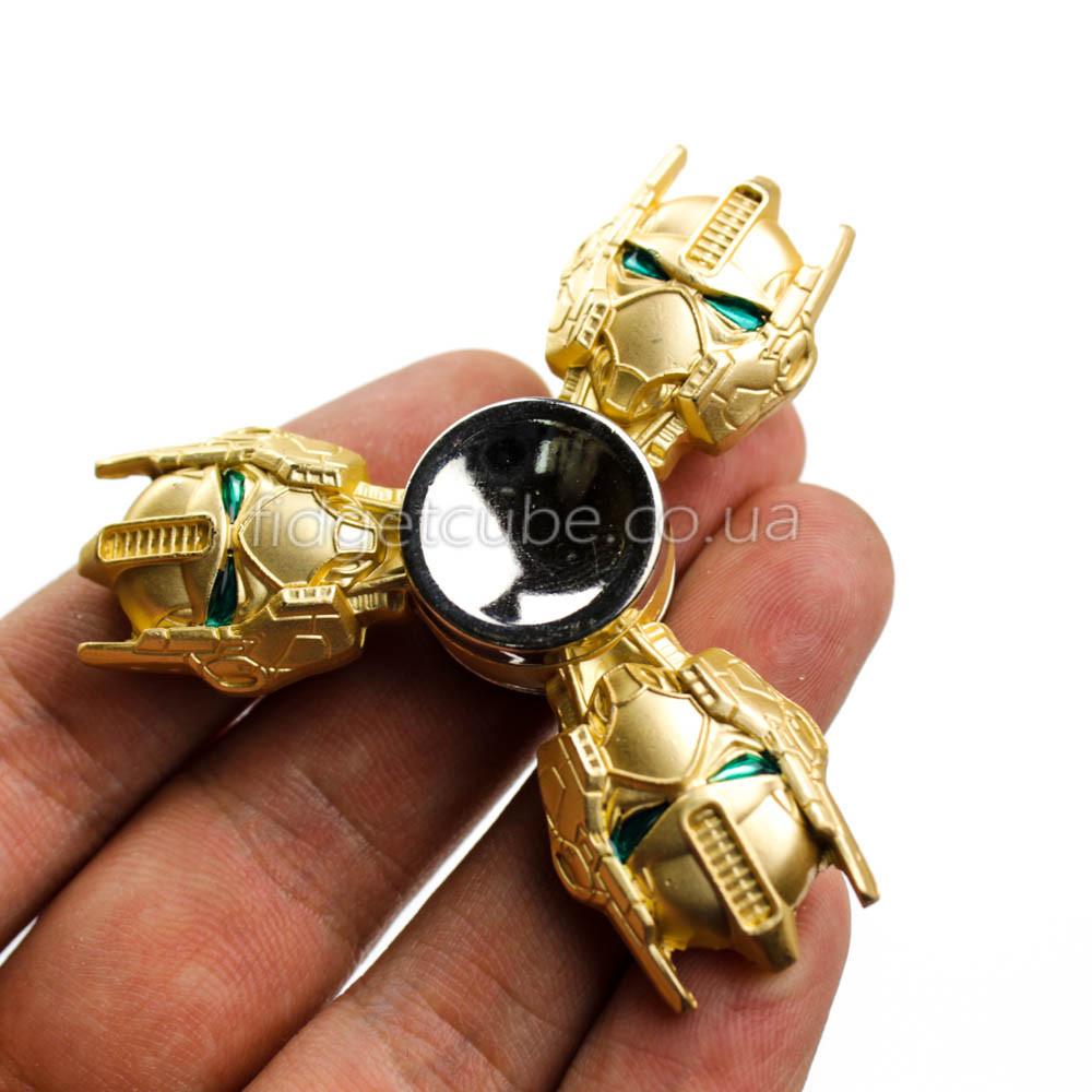 Spinner Трансформеры Оптимус золотой цвет ТОП 9902