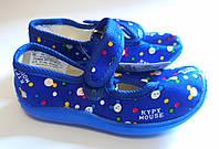 Обувь для девочек Текстиль Размер 23 Синий с обезьянками 09167(23м) Vitaliya Украина