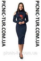Женское платье Роза A6 новинка, повседневное, красивое  размеров 44, 46, 48, 50, 52, 54,56 оптом и в розницу