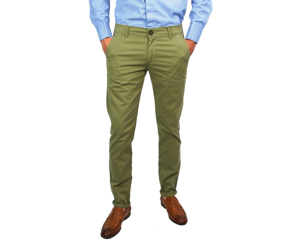 703735c0ea5 Однотонные мужские джинсы чинос зауженные GET OVER цвета хаки -