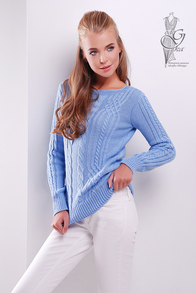 Фото-1 Женского свитера из шерсти и акрила Адель-10