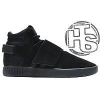 Мужские кроссовки Adidas Originals Tubular Invader Strap Triple Black BB1169