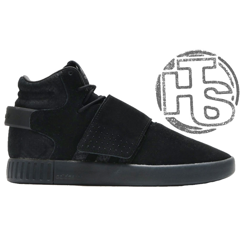 Мужские кроссовки Adidas Originals Tubular Invader Strap Triple Black  BB1169 - Интернет-магазин