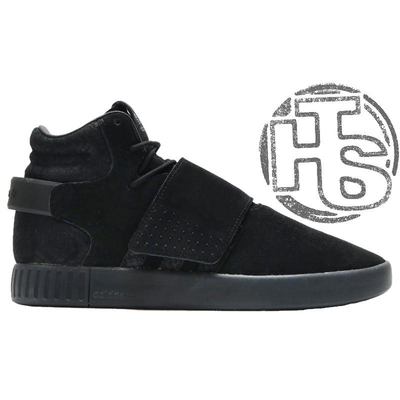 b2de9566 Мужские кроссовки Adidas Originals Tubular Invader Strap Triple Black BB1169