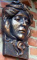 Барельеф. Маскарон богиня Веста Хранительница очага из бетона , фото 1