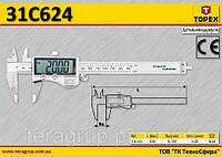 Штангенциркуль электронный цифровой 150мм,  TOPEX  31C624