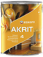 Eskaro Akrit 4( Акрит 4) Глубокоматовая краска для стен и потолков 2.85