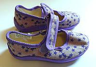 Обувь для девочек Текстиль Размер 25 Сиреневые со звездами 09167(25) Vitaliya Украина