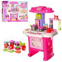 Детская кухня 16641G, высота 63 см Игрушечная розовая кухня с посудой