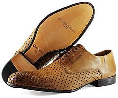 Мужские польские туфли Conhpol коричневого цвета