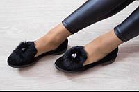 Модные туфли с мехом от производителя.