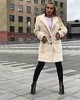 Женское пальто-шубка из эко меха