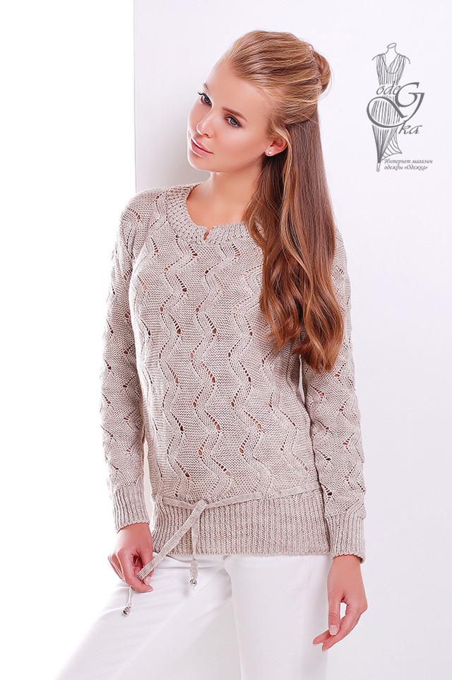 Цвет Капучино Вязаного женского свитера Вильнюс