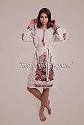 Заготовка для вишивки жіночого плаття-вишиванки під бісер (БС-118с)