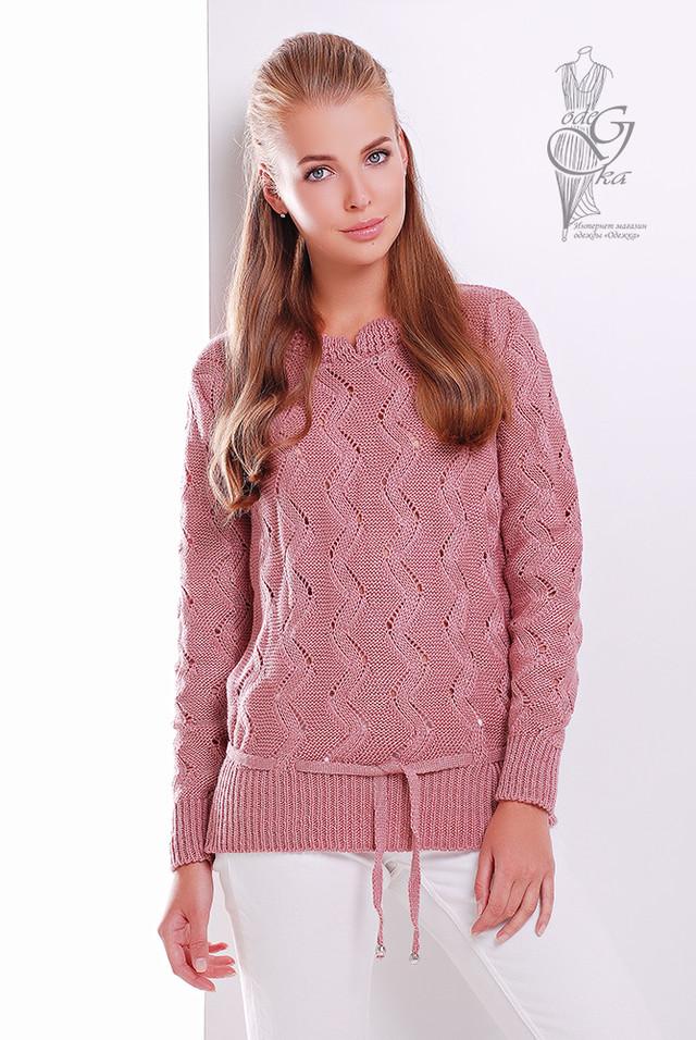 Цвет Роза Вязаного женского свитера Вильнюс