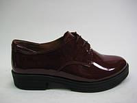 Женские лаковые туфли цвета бордо TM Tope Hole