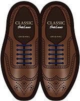 Силиконовые шнурки (антишнурки) для классических туфель Синий, 40 мм