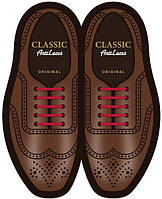 Силиконовые шнурки (антишнурки) для классических туфель Бордовый, 30 мм