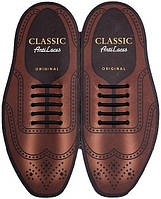 Силиконовые шнурки (антишнурки) для классических туфель Черный, 30 мм