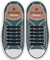 Прямые силиконовые антишнурки для кроссовок и кед Черный, 53 мм
